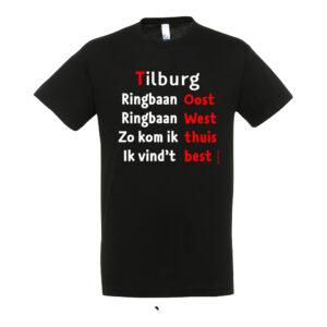 Het enige echte Ringbaan Tilburg t-shirt. Van de stadsdichter van Tilburg (kruikenstad)